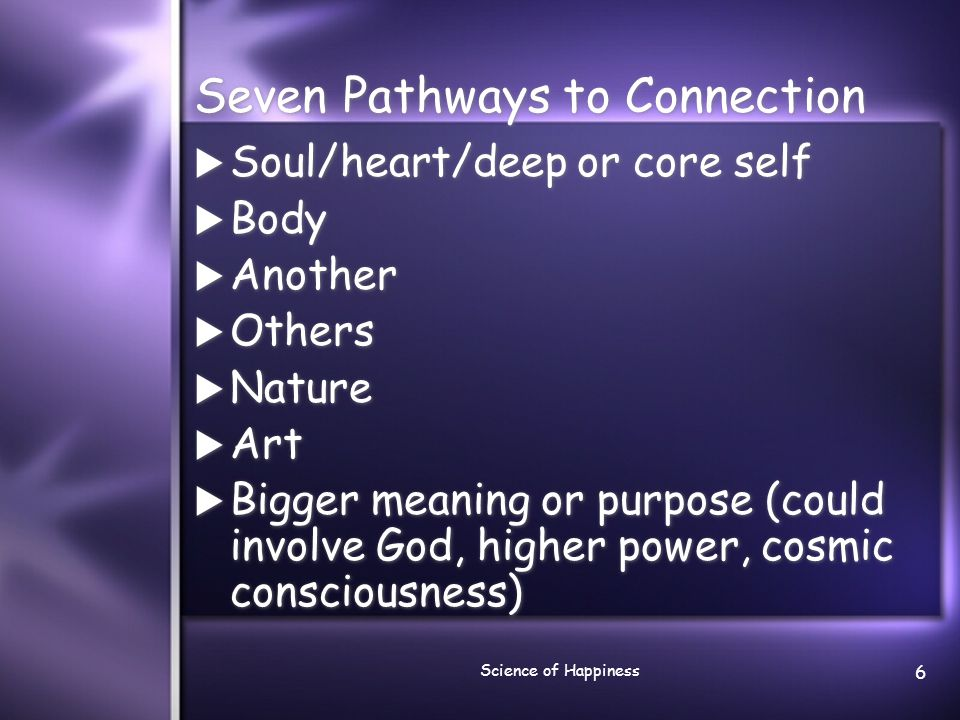 Seven Pathways to Connection