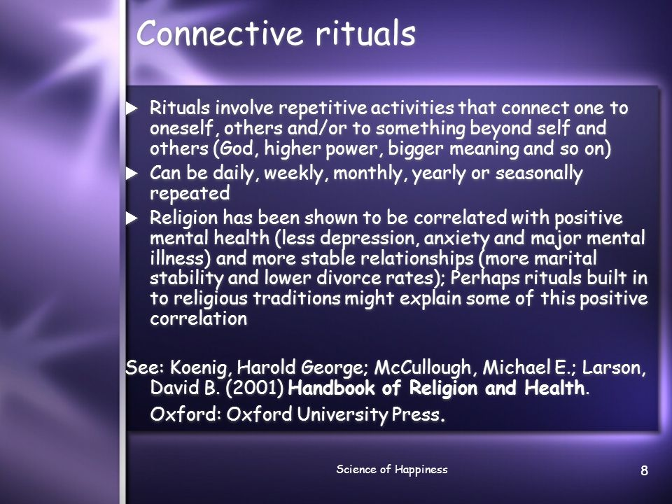 Connective rituals