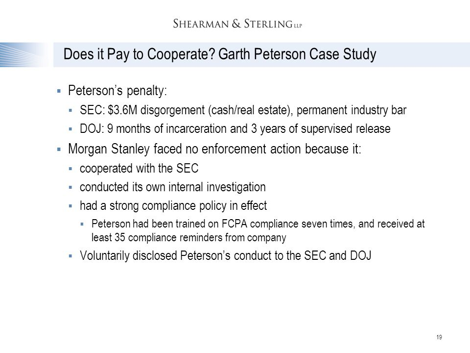 Does it Pay to Cooperate Garth Peterson Case Study