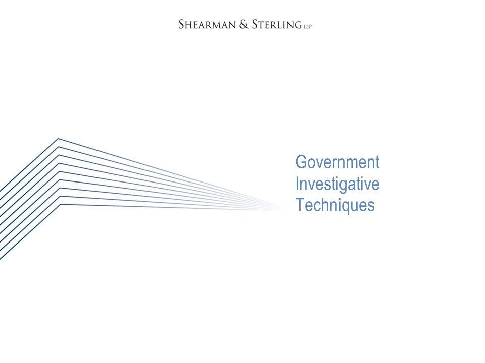 Government Investigative Techniques