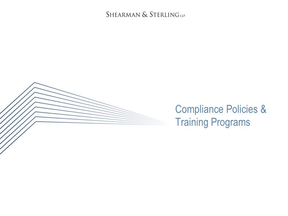 Compliance Policies & Training Programs