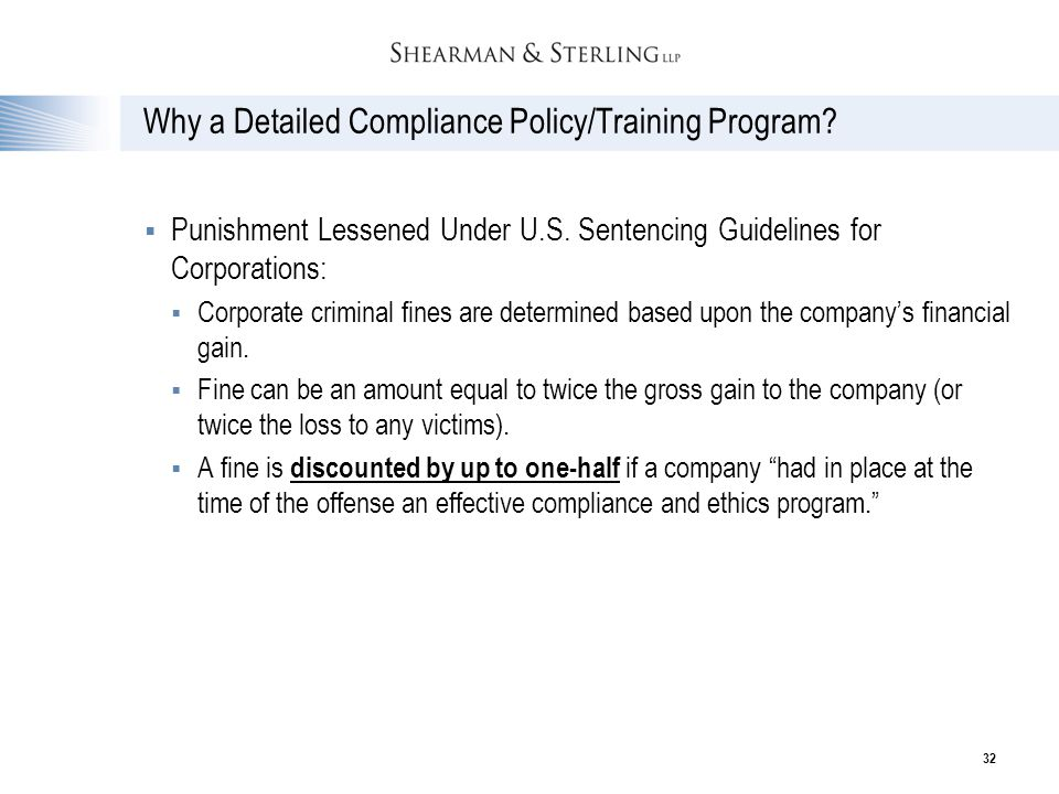 Why a Detailed Compliance Policy/Training Program