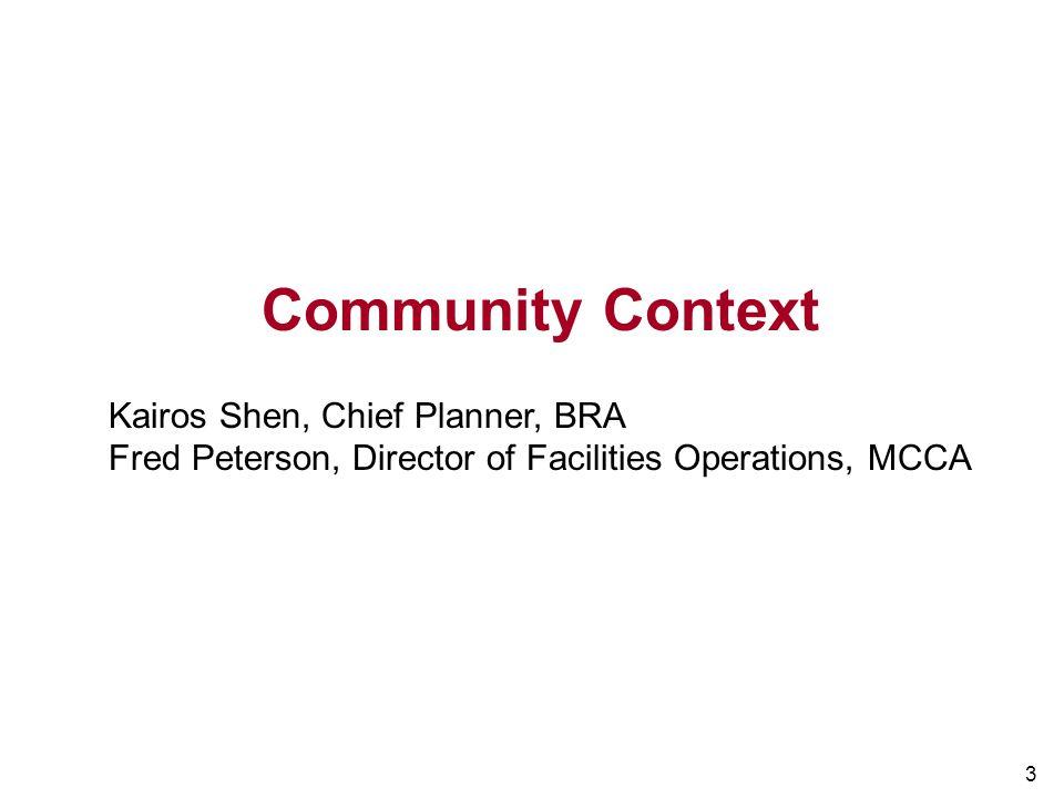 Community Context Kairos Shen, Chief Planner, BRA