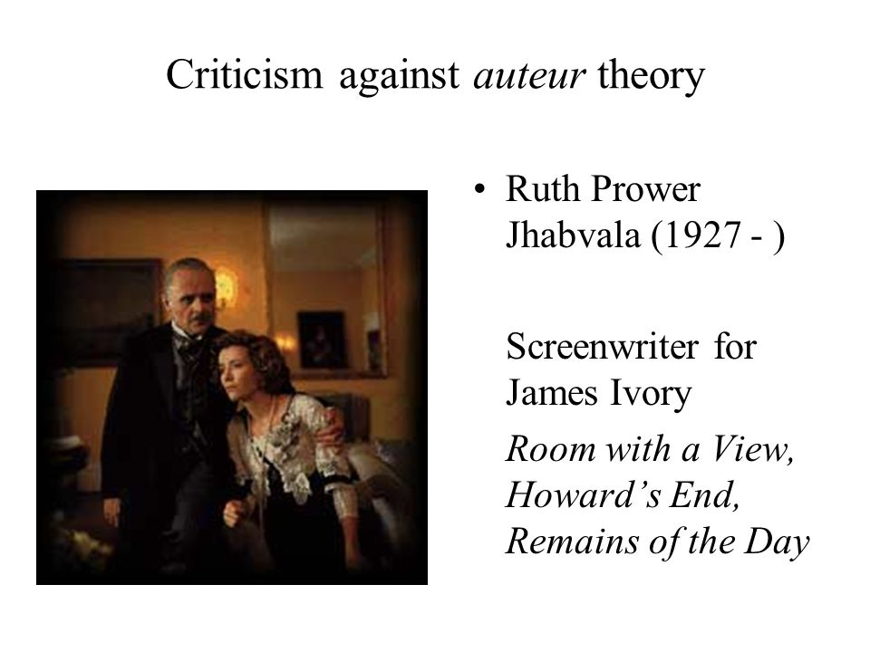 Criticism against auteur theory