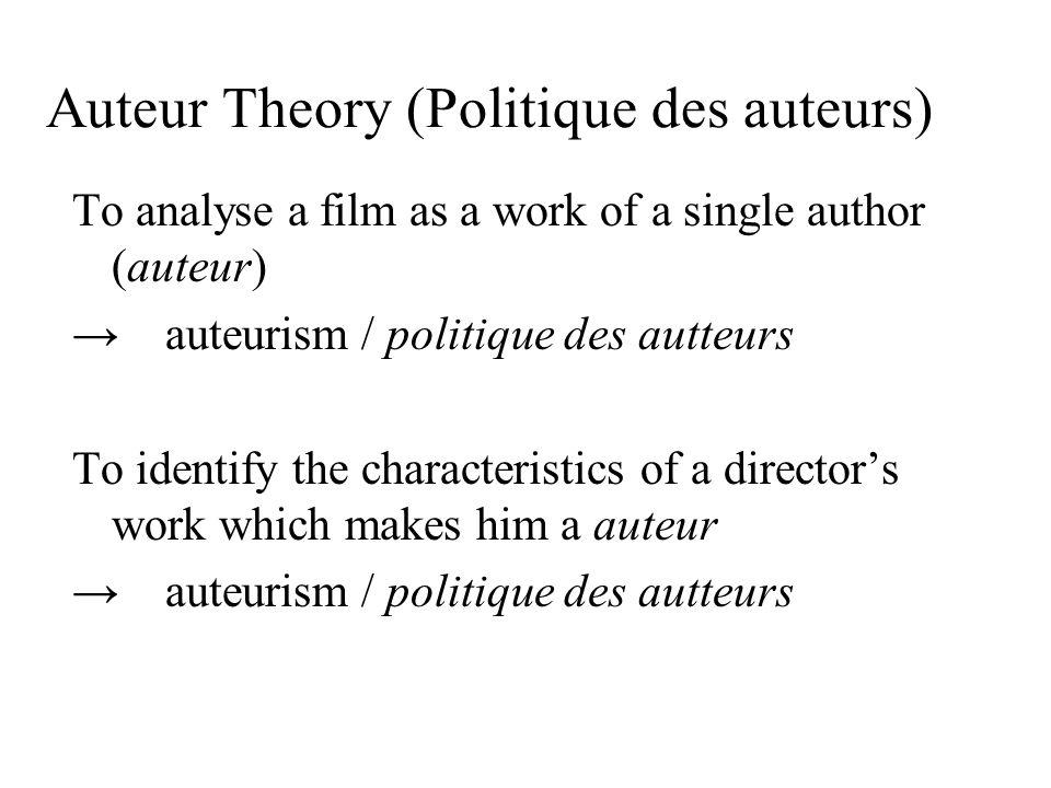 Auteur Theory (Politique des auteurs)