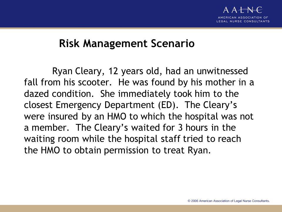 Risk Management Scenario