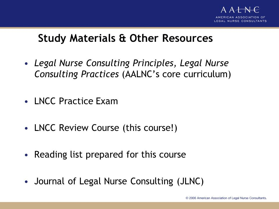 Study Materials & Other Resources