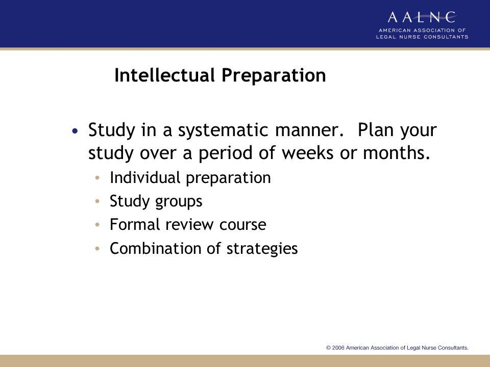 Intellectual Preparation