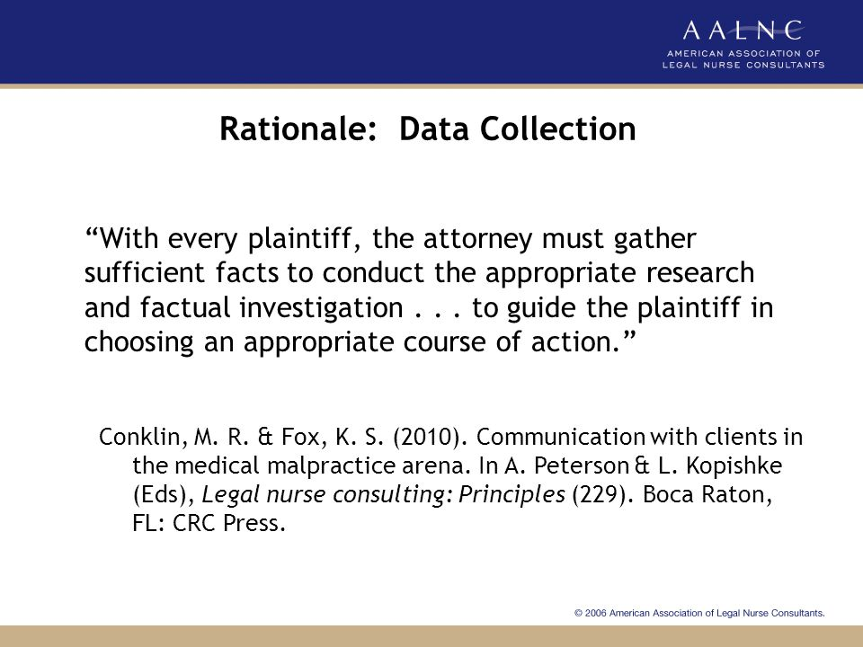 Rationale: Data Collection
