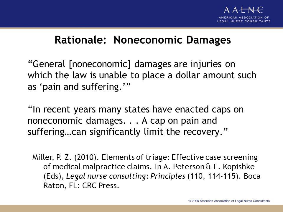 Rationale: Noneconomic Damages