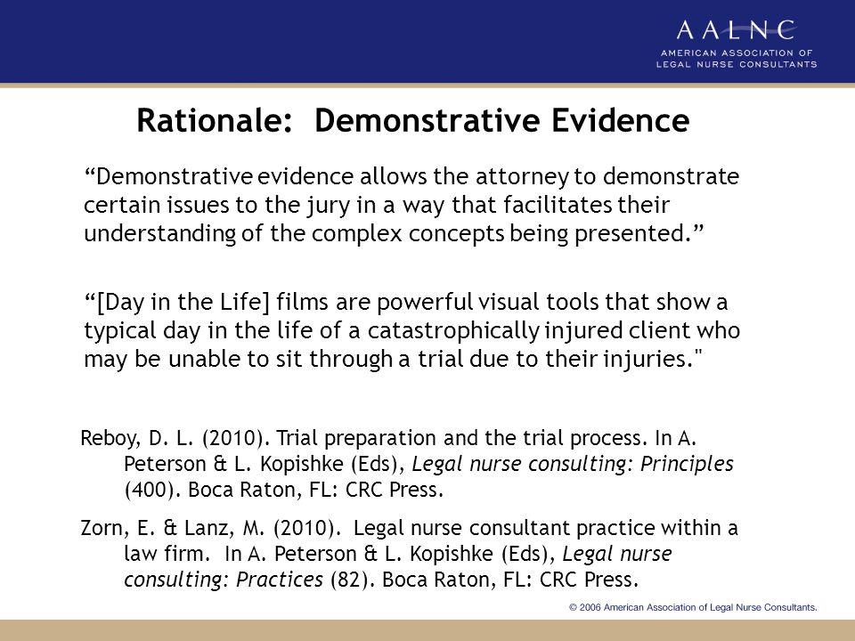 Rationale: Demonstrative Evidence