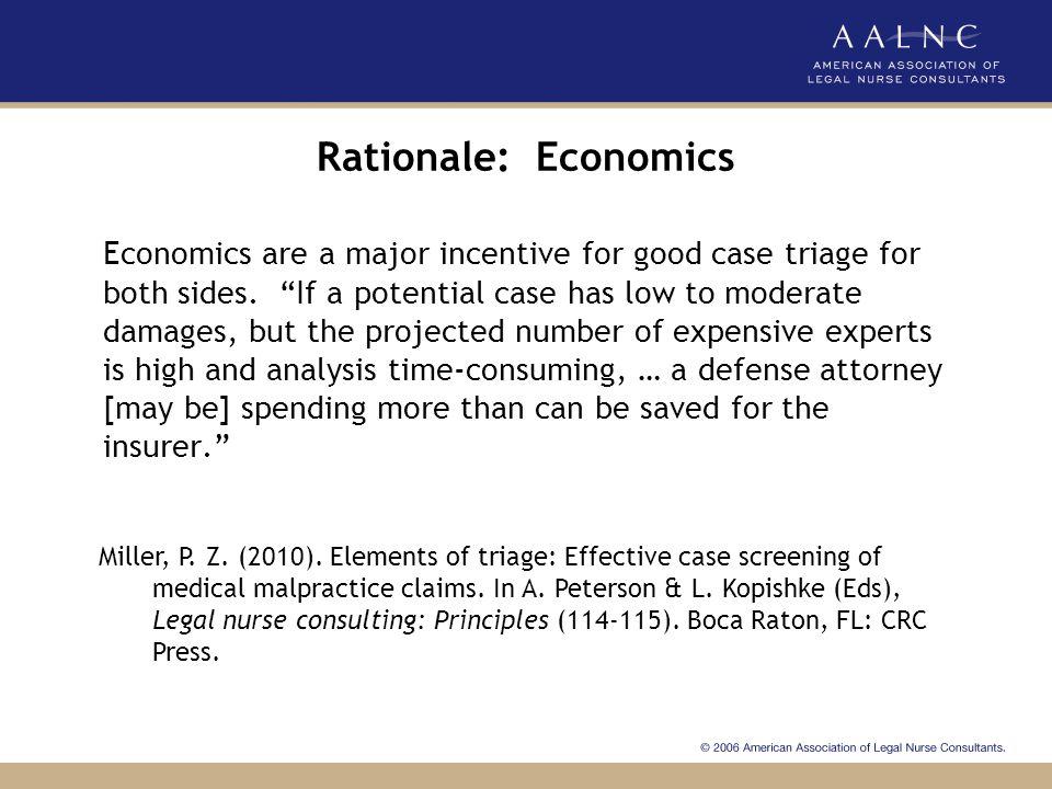 Rationale: Economics
