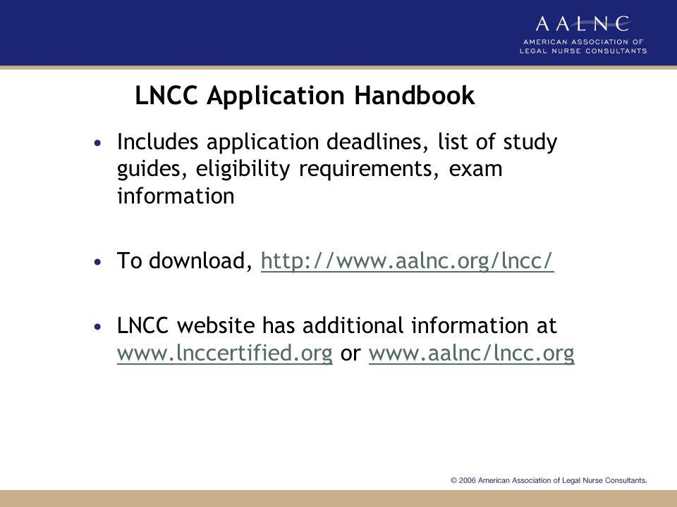 LNCC Application Handbook