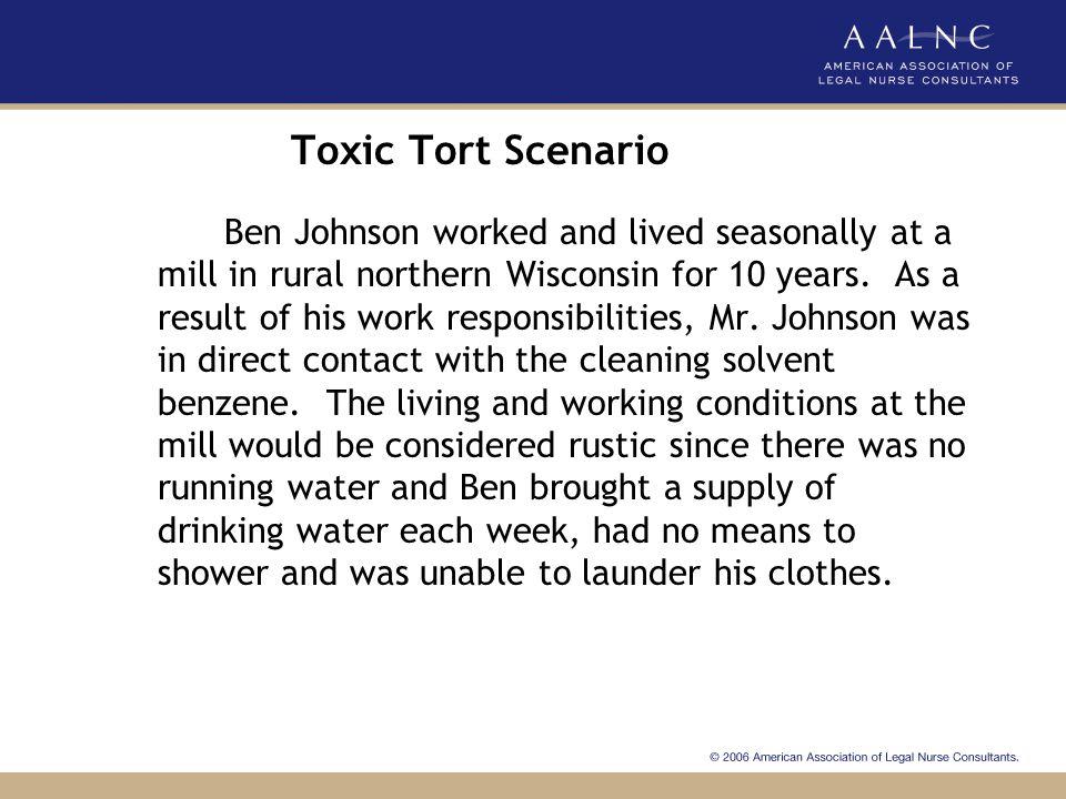 Toxic Tort Scenario