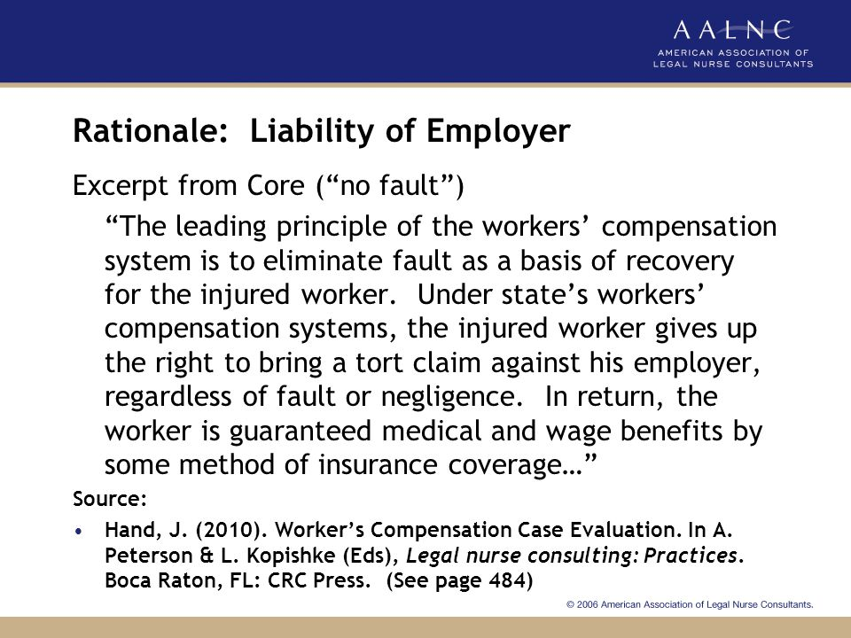 Rationale: Liability of Employer
