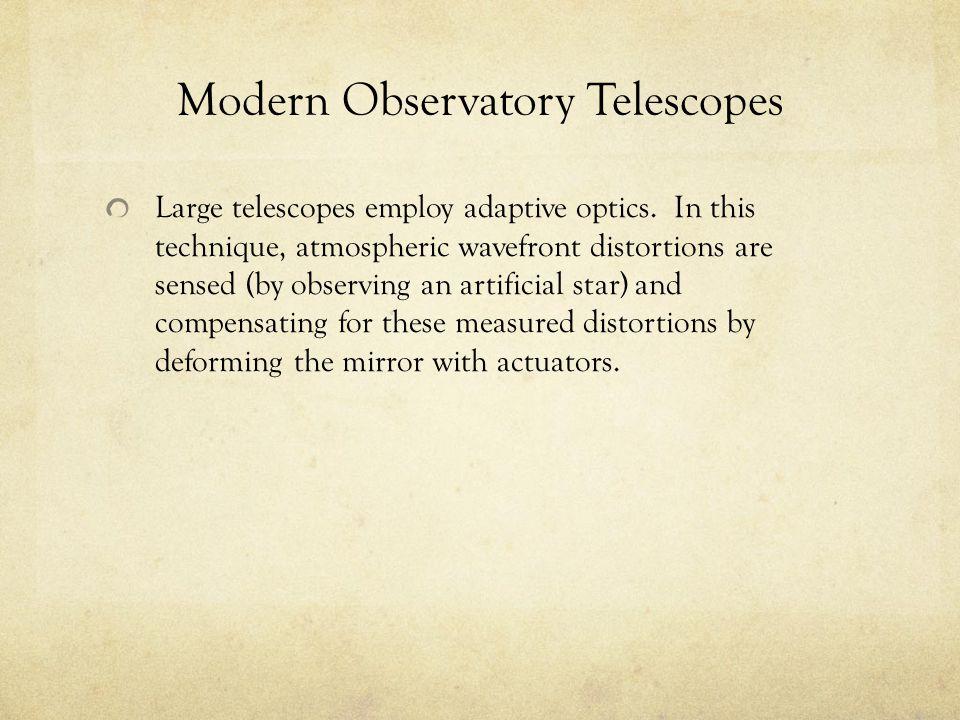 Modern Observatory Telescopes