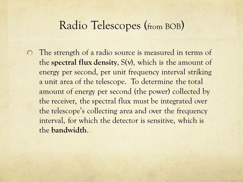 Radio Telescopes (from BOB)