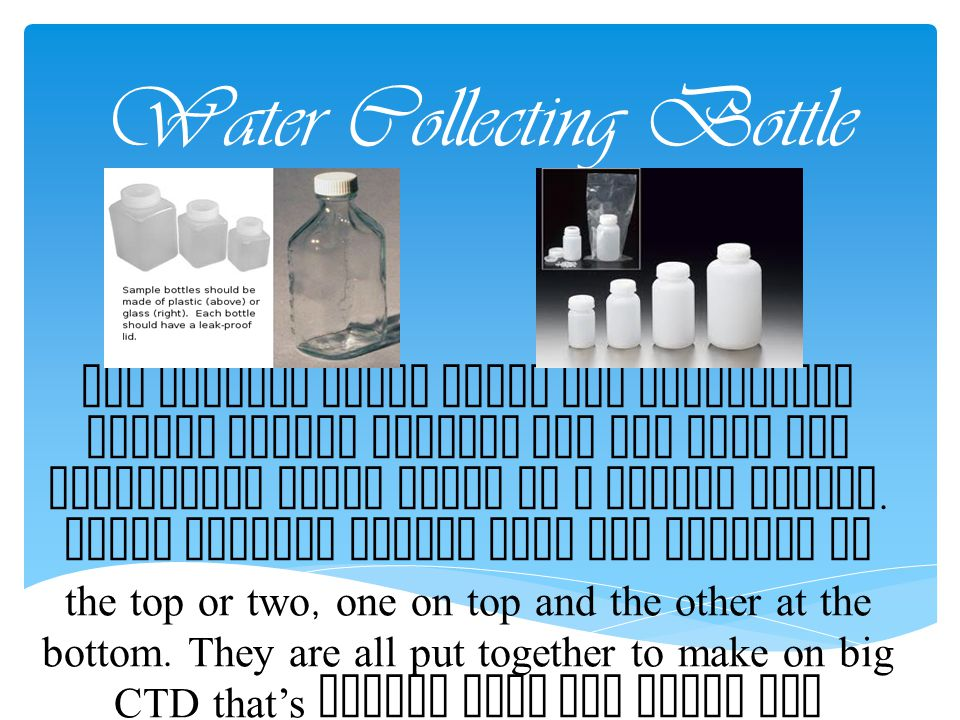 Water Collecting Bottle
