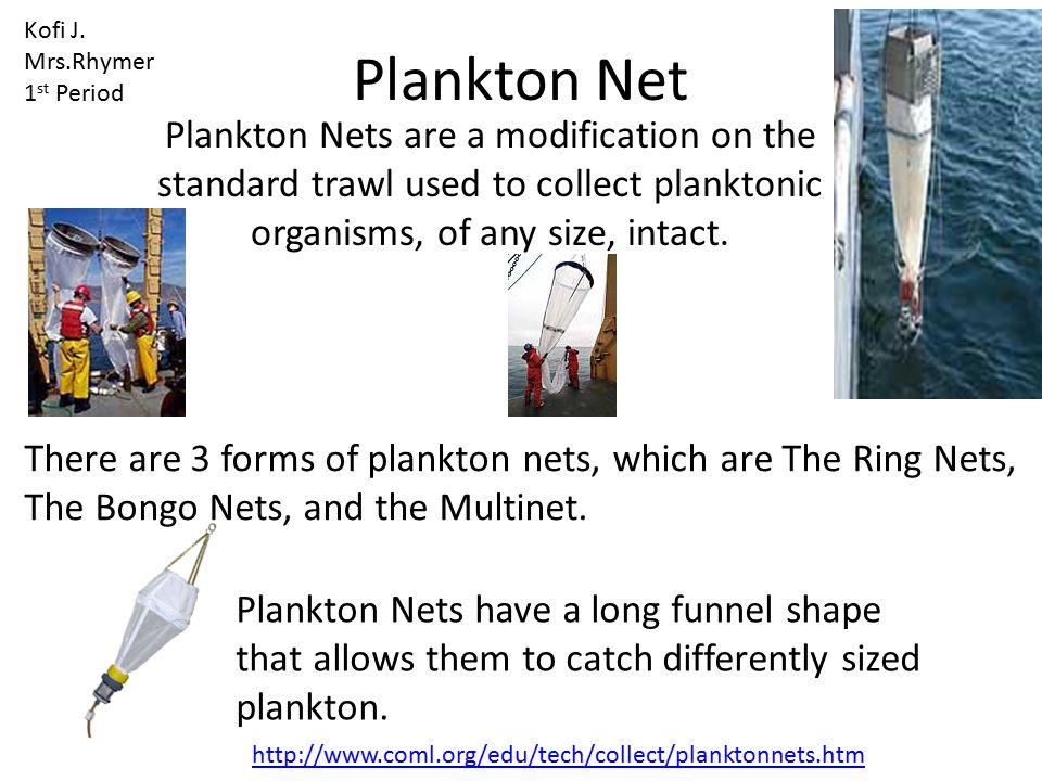 Kofi J. Mrs.Rhymer. 1st Period. Plankton Net.