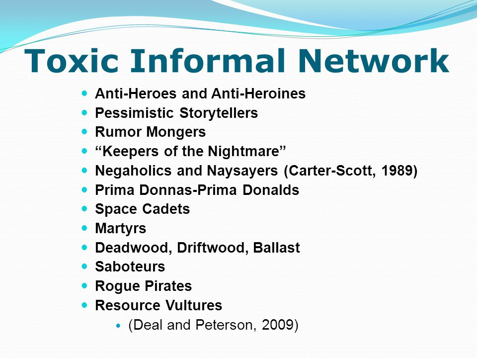 Toxic Informal Network