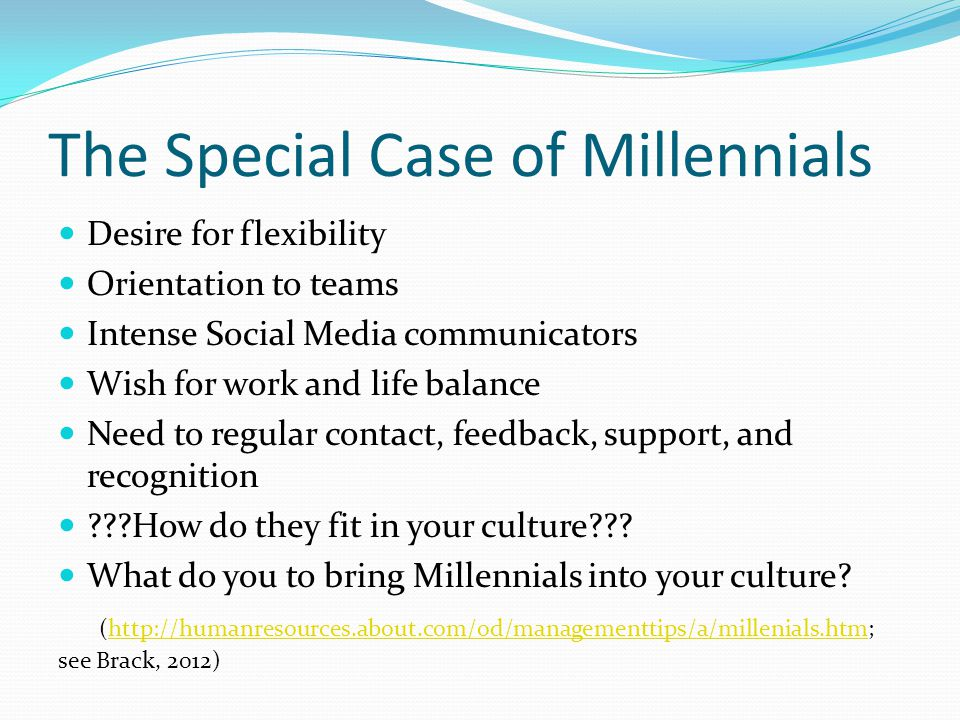 The Special Case of Millennials