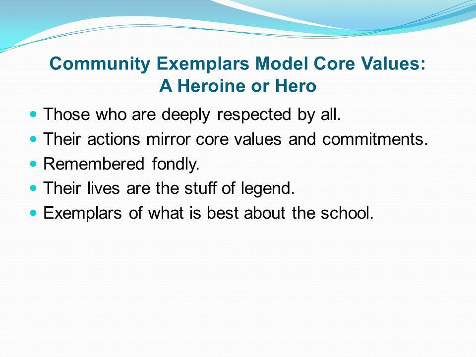 Community Exemplars Model Core Values: A Heroine or Hero
