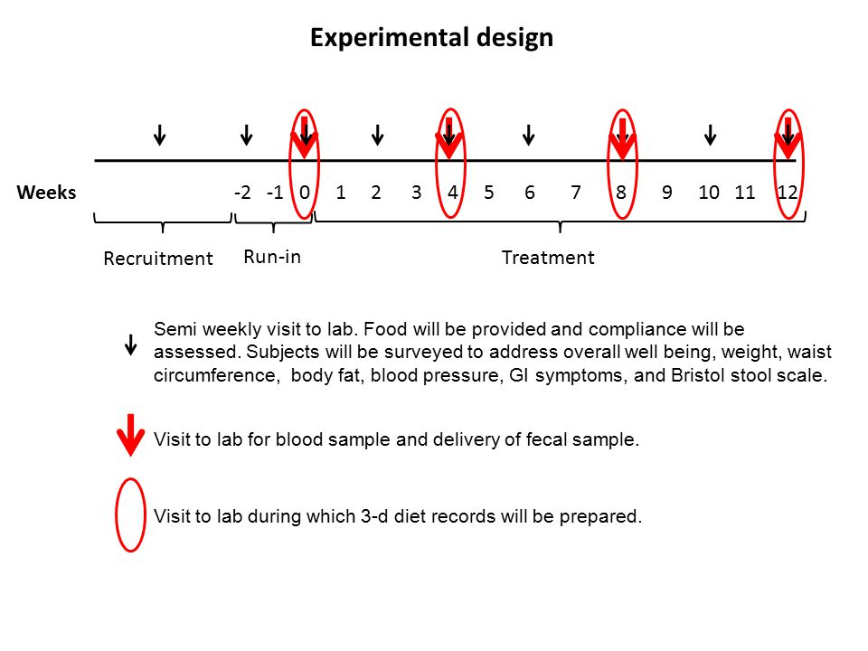Experimental design Weeks -2 -1 0 1 2 3 4 5 6 7 8 9 10 11 12