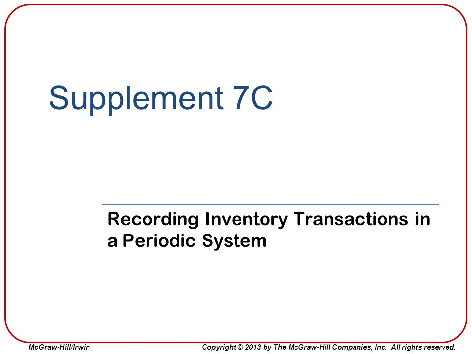 Recording Inventory Transactions in a Periodic System