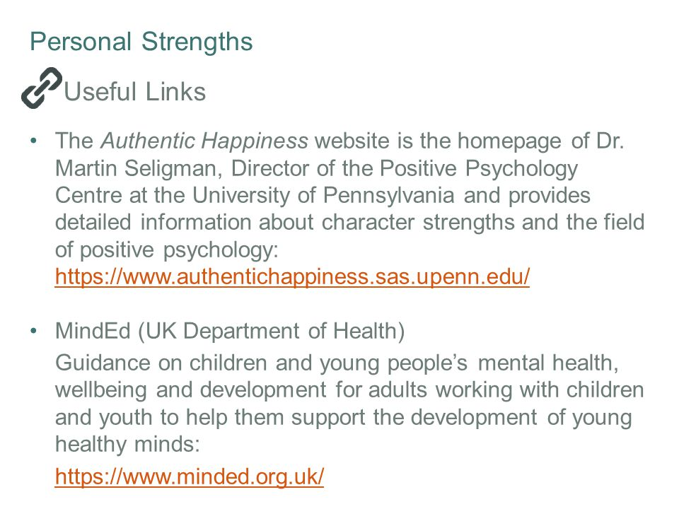 Personal Strengths Useful Links
