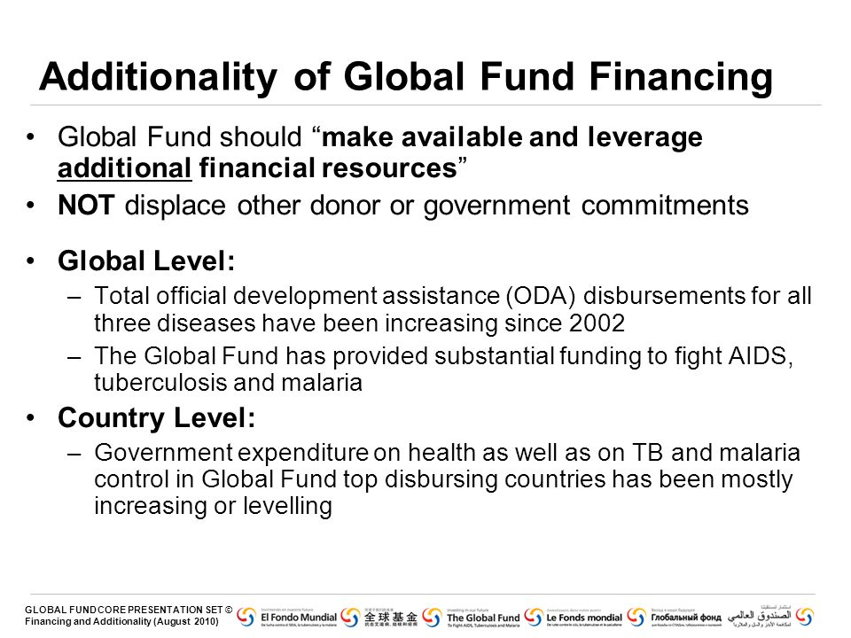 Additionality of Global Fund Financing