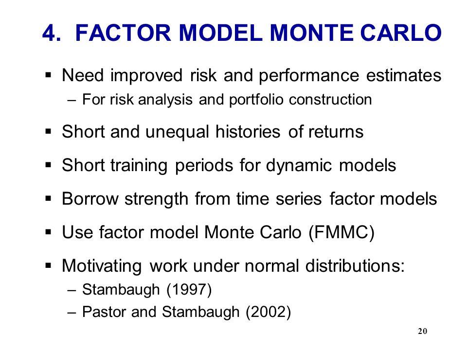 4. FACTOR MODEL MONTE CARLO