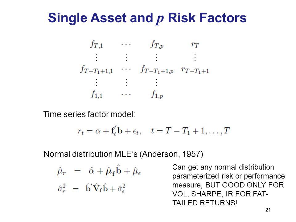 Single Asset and p Risk Factors