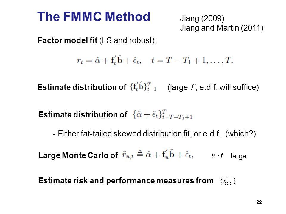 The FMMC Method Jiang (2009) Jiang and Martin (2011)