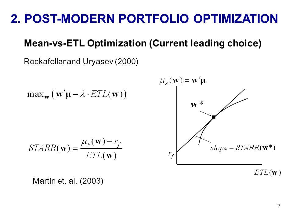 . 2. POST-MODERN PORTFOLIO OPTIMIZATION