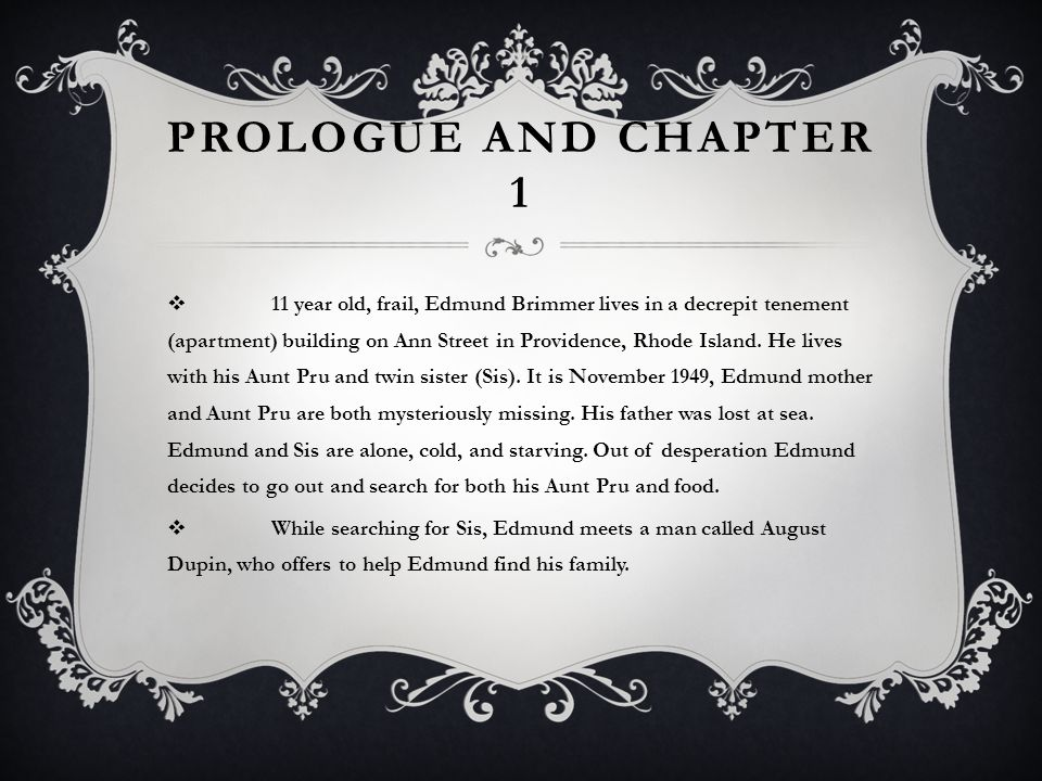 Prologue and Chapter 1