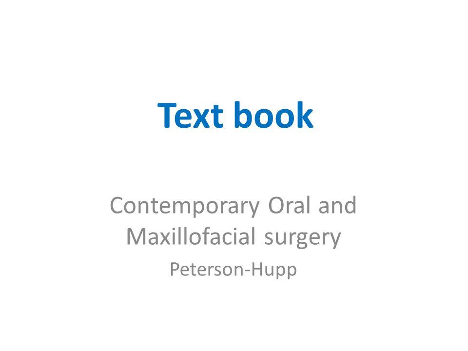 Contemporary Oral and Maxillofacial surgery Peterson-Hupp