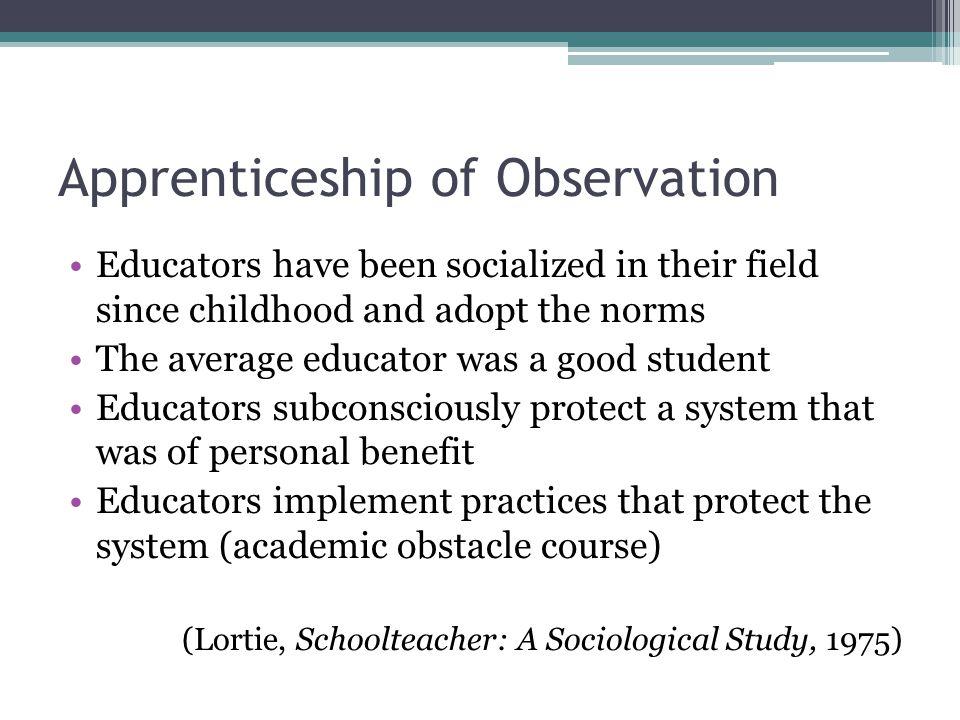 Apprenticeship of Observation