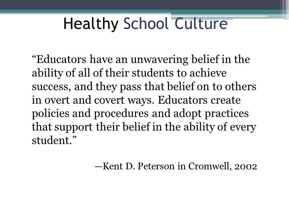 Healthy School Culture