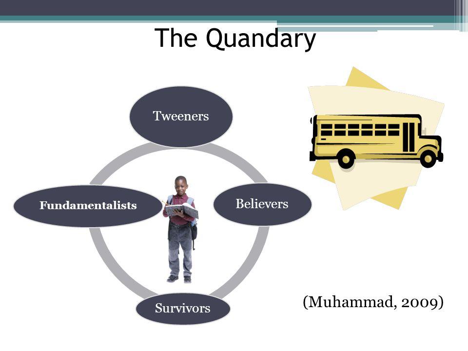 The Quandary (Muhammad, 2009) Tweeners Believers Survivors