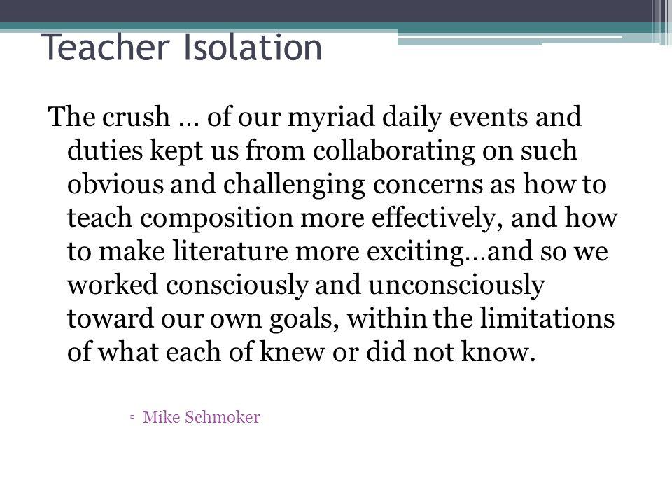 Teacher Isolation