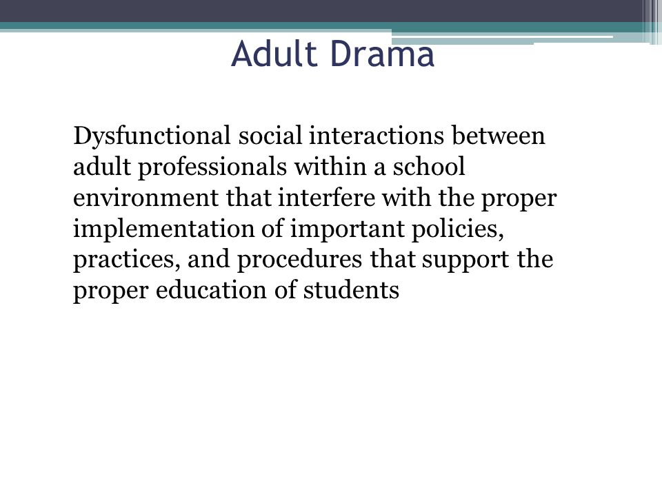 Adult Drama