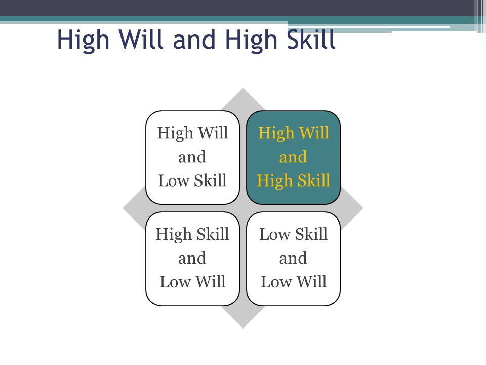High Will and High Skill