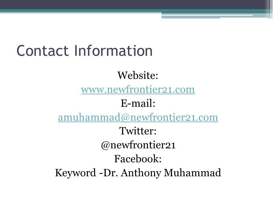 Keyword -Dr. Anthony Muhammad