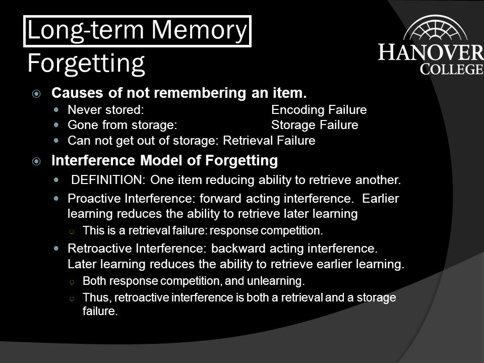 Long-term Memory Forgetting
