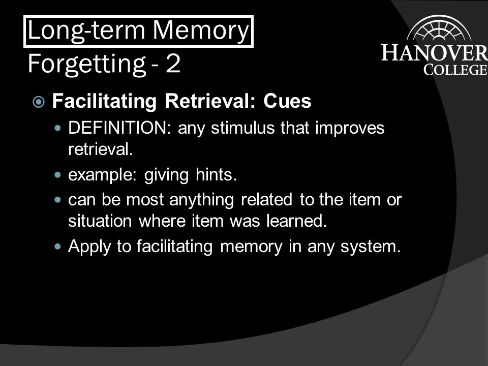 Long-term Memory Forgetting - 2