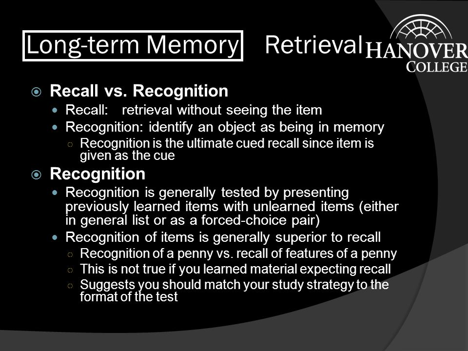 Long-term Memory Retrieval