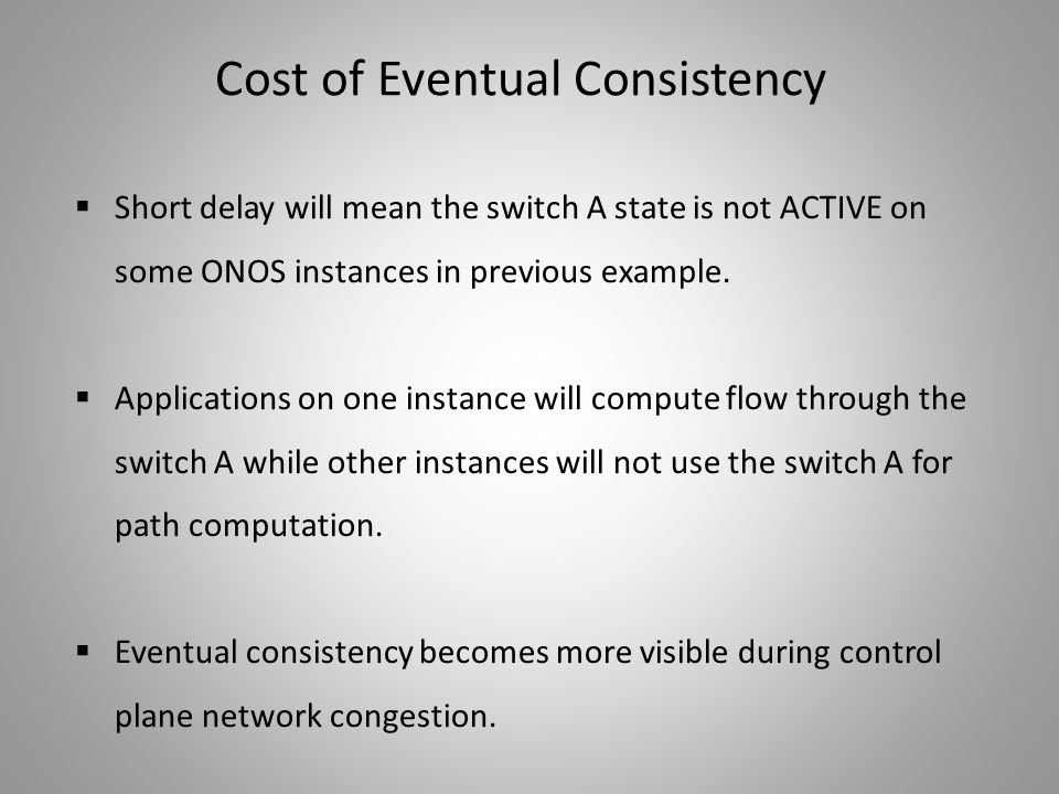 Cost of Eventual Consistency