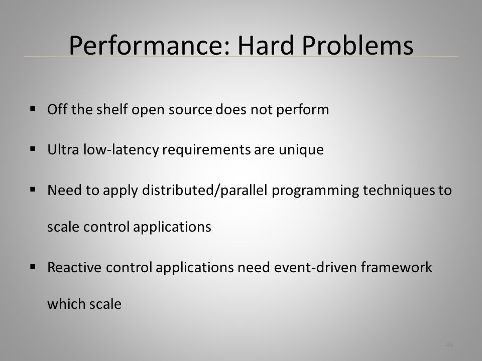 Performance: Hard Problems