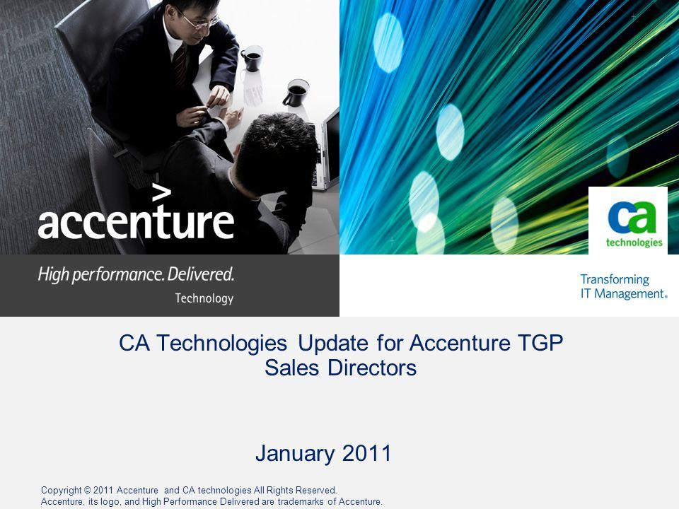 CA Technologies Update for Accenture TGP Sales Directors