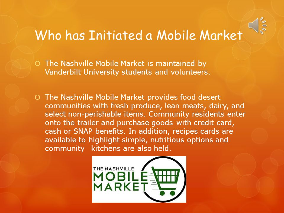 Who has Initiated a Mobile Market